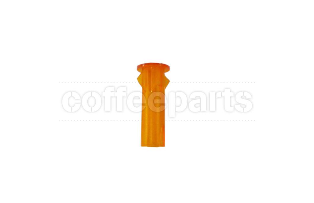 Orange cover for light