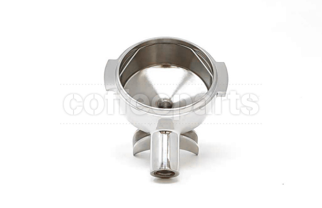 portafilter body m12 3/8 15 stainless steel with double spout