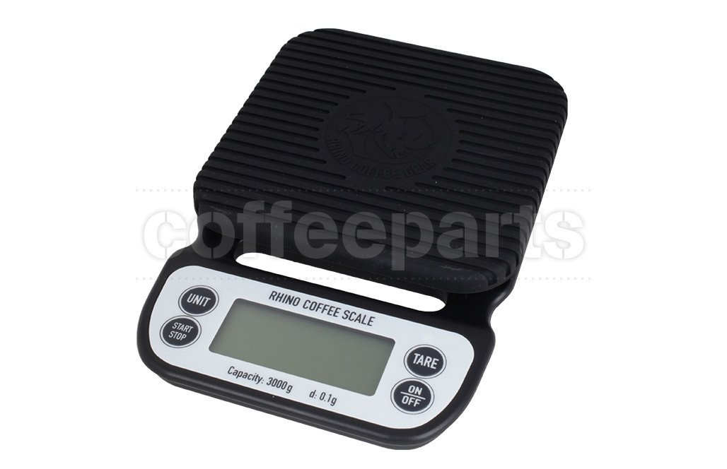 Rhino Coffee Gear Brewing Scale - 3kg LCD Display 3000g Capacity 0 1g  Readability Item Number: bb-rw-brewing-scale