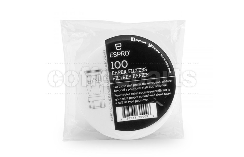 Espro Paper Filters suits Travel Press : 100 Pack