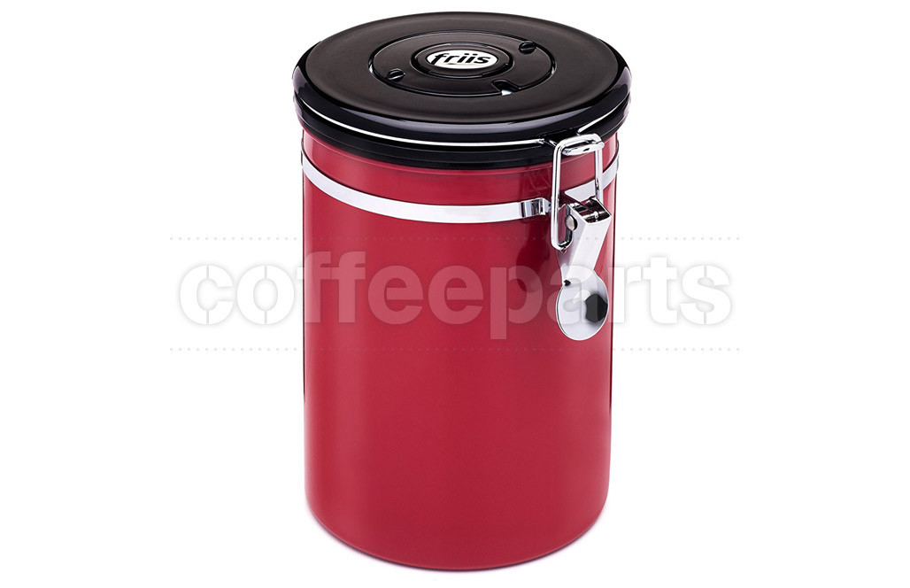 Friis Red Coffee Storage Vault with One-Way Valve