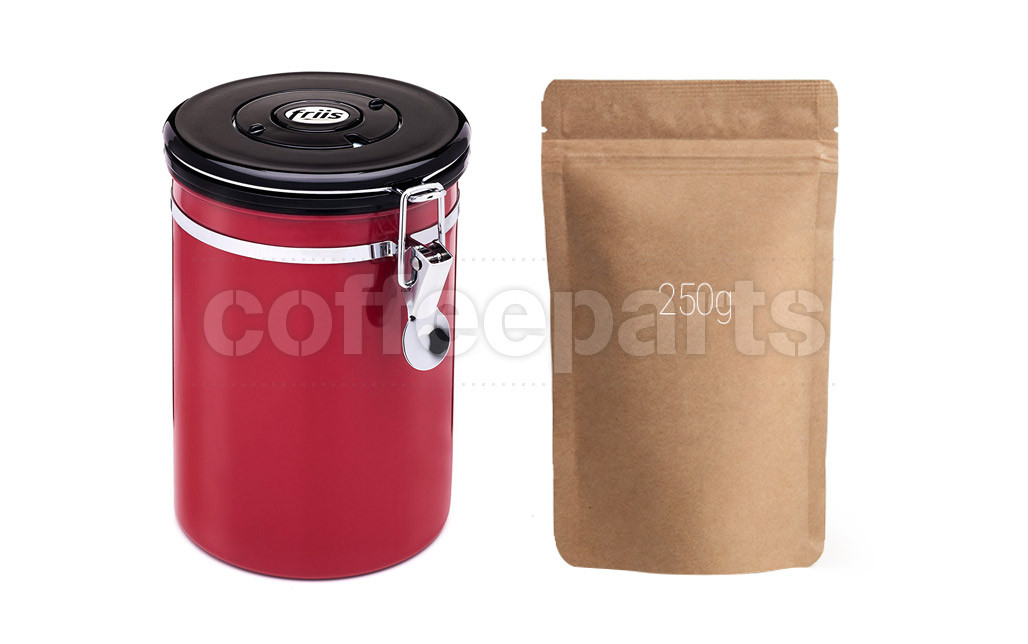 Friis Red Coffee Storage Vault with 250g Coffee