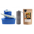 Nomad Camping kit inc Nomad, Timemore C2 Grinder and 250g Coffee: Blue
