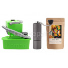 Nomad Camping kit inc Nomad, Timemore C2 Grinder and 250g Coffee: Green
