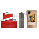 Nomad Camping kit inc Nomad, Timemore C2 Grinder and 250g Coffee: Red