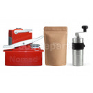 Nomad Red Camping kit inc Nomad, Porlex Mini Grinder and 250g Coffee