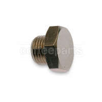 Brass fitting plug