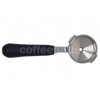 Short portafilter with rubber handle
