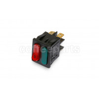 Unipolar switch with warning light