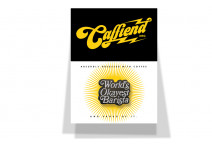 World's Okayest Barista badge - Caffiend