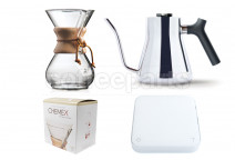 Chemex Classic 6 Cup Cafe Pour Over Kit