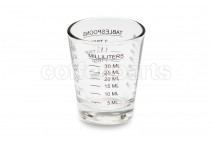Measured multi-use glass cup