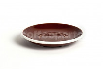 Acme latte saucer, 155mm diameter, colour: brown