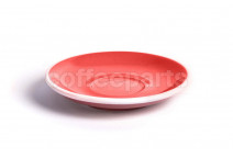 Acme latte saucer, 155mm diameter, colour: red