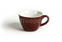 Acme 160ml flat white cups, colour: brown