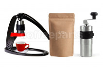 Flair Acme Kit inc Flair, Porlex Mini Grinder, Red 70ml Acme cup and 250g Coffee