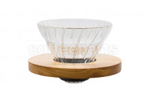 Hario V60 Glass Dripper Wood 1 Cup