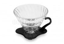 Hario glass v60 2 cup black