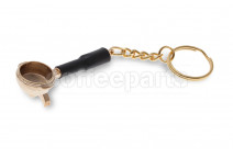 Portafilter keyring with double spout - gold