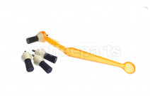 Pallo Orange Coffee Tool With Spare Brushes