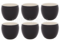Premier Tazze 280ml hot chocolate large bowl, set of 6, colour: black