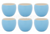 Premier Tazze 280ml hot chocolate large bowl, set of 6, colour: sky blue