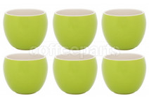 Premier Tazze 280ml hot chocolate large bowl, set of 6, colour: green
