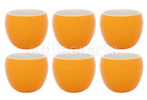 Premier Tazze 280ml hot chocolate large bowl, set of 6, colour: orange