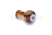 Reg Barber tamper handle only: zebra wood