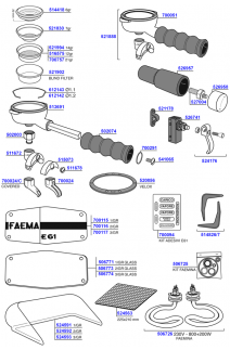Faema - e61 and faemina miscellaneous parts