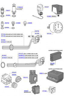Elements, gauges, boiler and electrical components