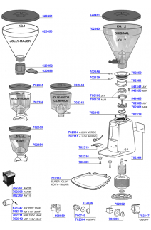 Hopper and main parts