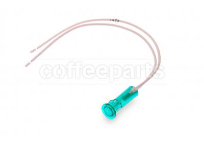 Green pilot lamp with wire d10 220v