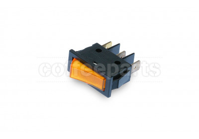 Orange 1-pole luminous switch