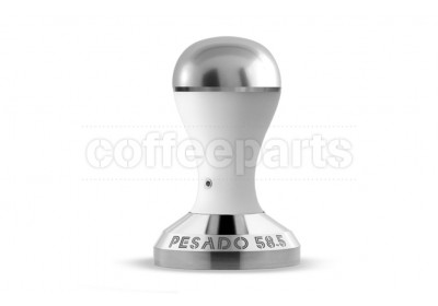 Pesado 58.5mm Modular Coffee Tamper: White and Silver