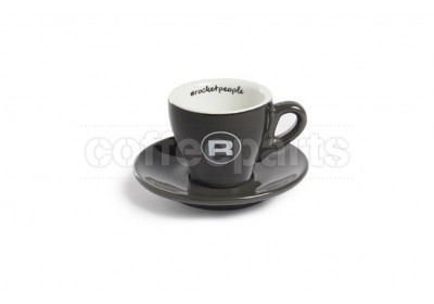 Rocket 80ml Demitasse Espresso Coffee Cups (6 Cups/Saucers): Grey
