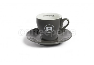 Rocket 180ml Flat White/Tulip Coffee Cups (6 Cups/Saucers): Grey