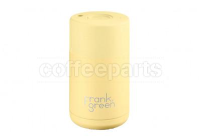 Frank Green Ceramic Reusable Coffee Cup - 10oz / 295ml: Buttermilk (Yellow)