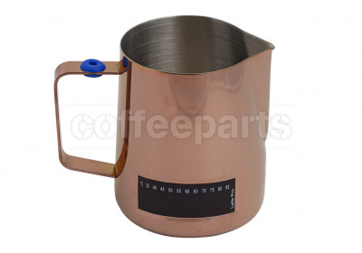 Latte Pro 600ml milk jug with built-in thermometer : Copper