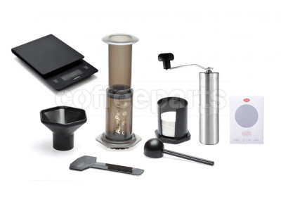 Aeropress Barista Kit inc Porlex Tall Grinder, Able Disk, 350 Filters