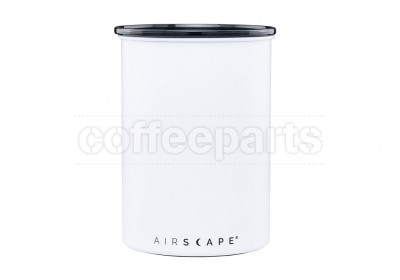 Airscape Medium Classic Coffee Storage Vault: Chalk White