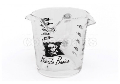 Barista Basics 70ml Triple-Spouted Shot Glass with Handle