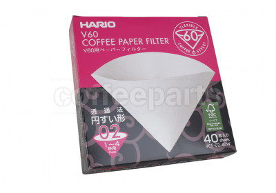 Hario 2-Cup V60 Drip Filter Papers (40pcs)