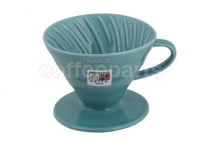 Hario 2-Cup V60 Turquoise Ceramic Coffee Dripper
