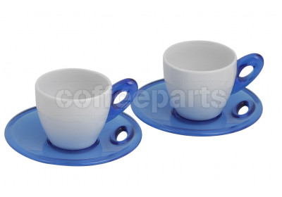 CLEARANCE Biesse Set Of Two Espresso Cups : Blue