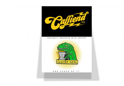 Clever Girl badge - Caffiend