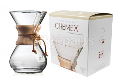 Chemex 6-Cup Classic Pour Over Coffee Kit inc 100 pack filters