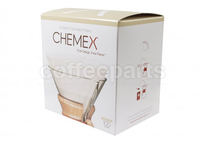 Chemex Bonded Filters Pre-folded Circles to fit 6-10 Cup (100 Pack)