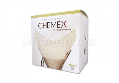 Chemex Bonded Filters Pre-folded Squares to fit 6-10 Cup (100 Pack)