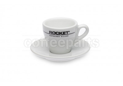 Rocket 80ml Demitasse Espresso Coffee Cups (6 Cups/Saucers)
